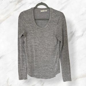 Aritzia Wilfred free large gray pullover long tee